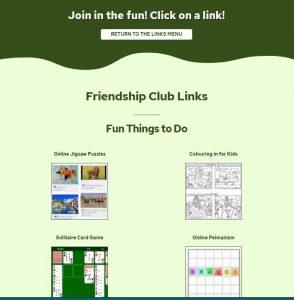 Friendship Club Website