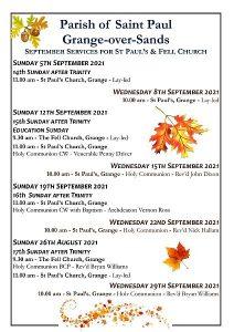 St Paul's Grange September Poster