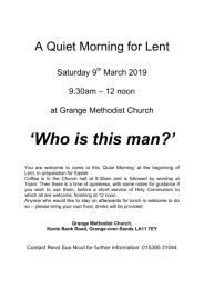 Lent Quiet Morning - Churches Together - 9 March-260h